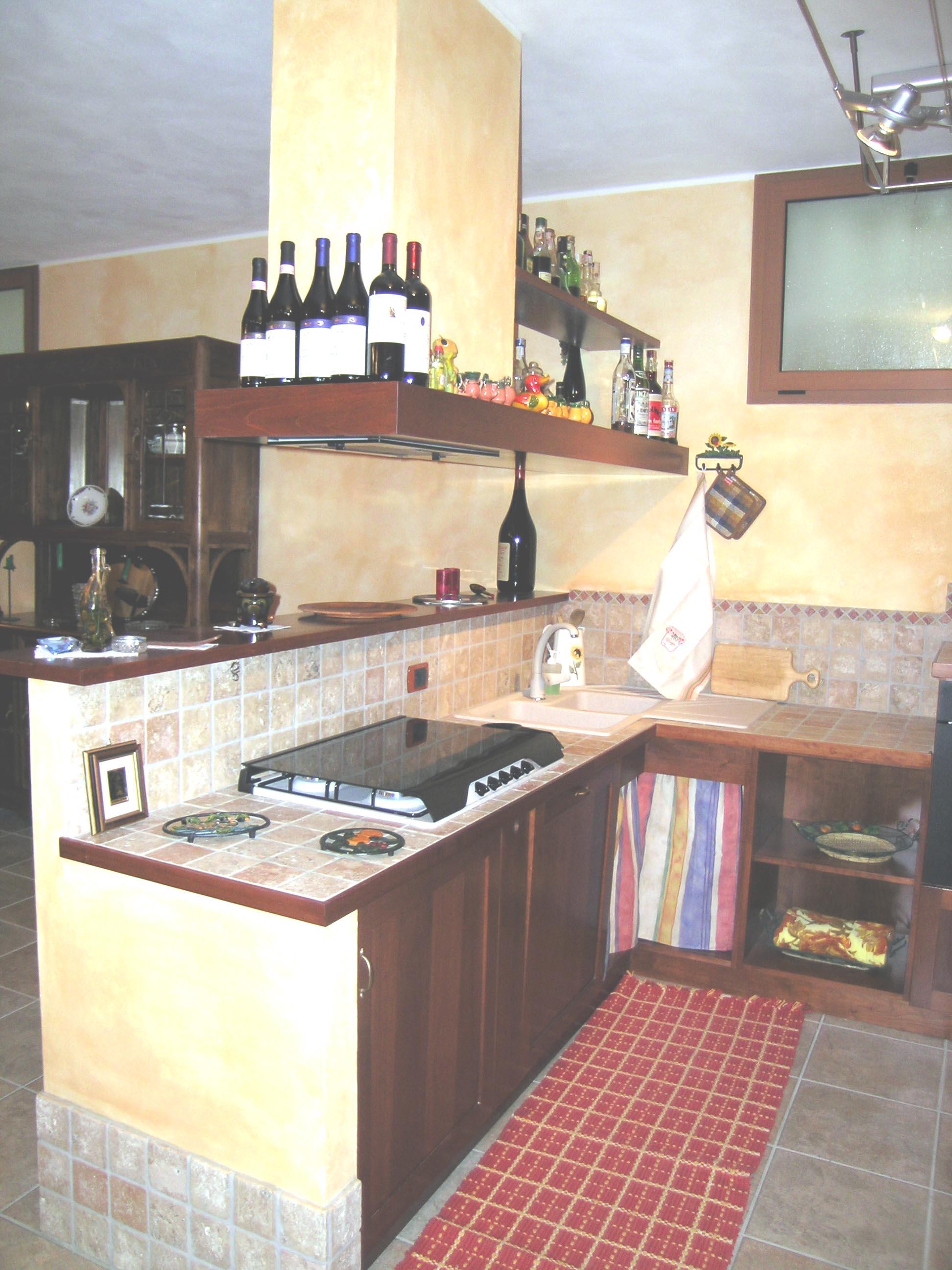Fabulous angolo cottura a misura per tavernetta with for Cucine per angolo cottura